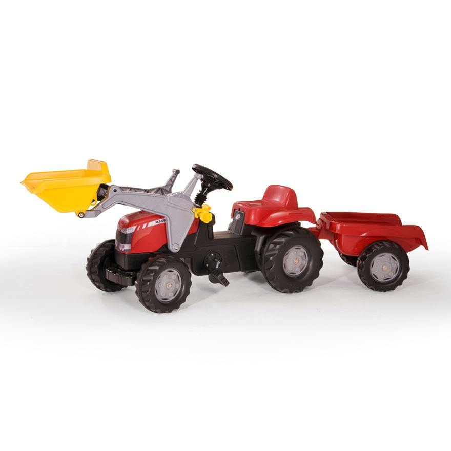 """Rolly"" Massey Ferguson Tractor with loader and trailer image-0"