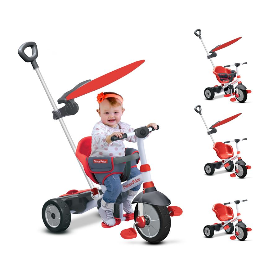 Fisher-Price 3-in-1 Charm Plus Red Tricycle image-0