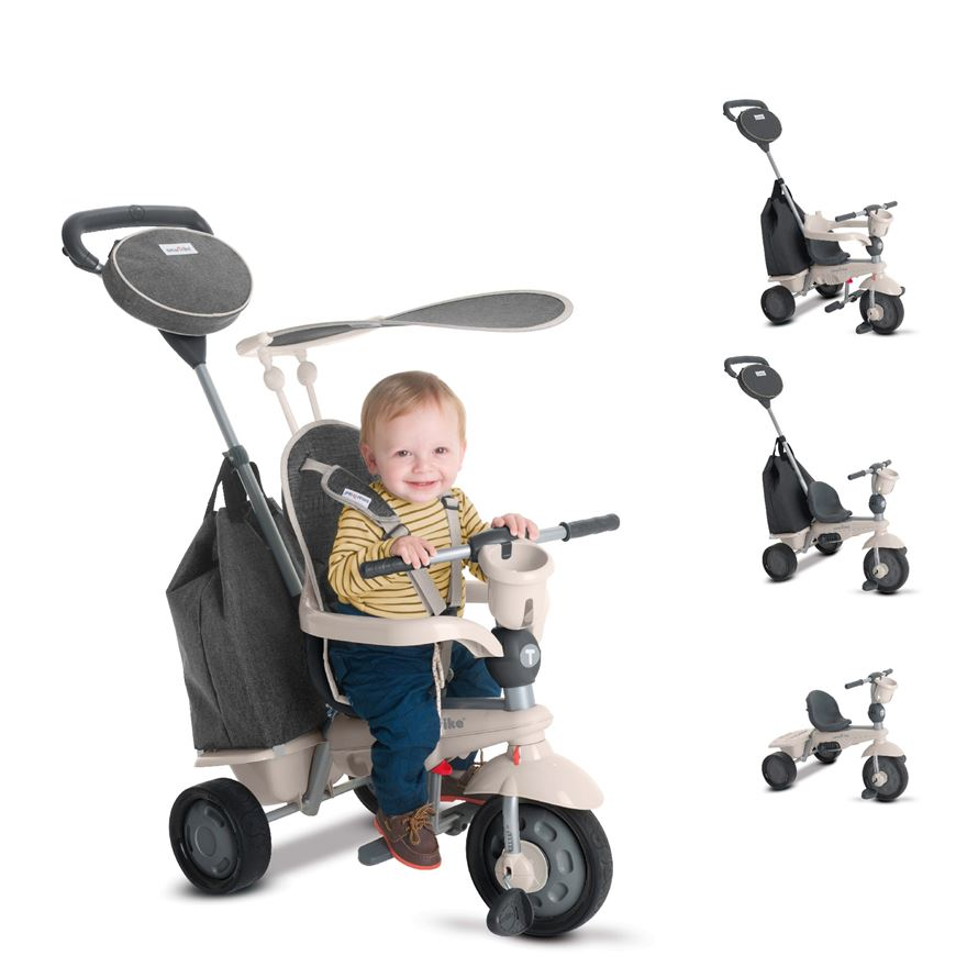 SmarTrike Voyage Dark Grey 4 in 1 Tricycle image-0