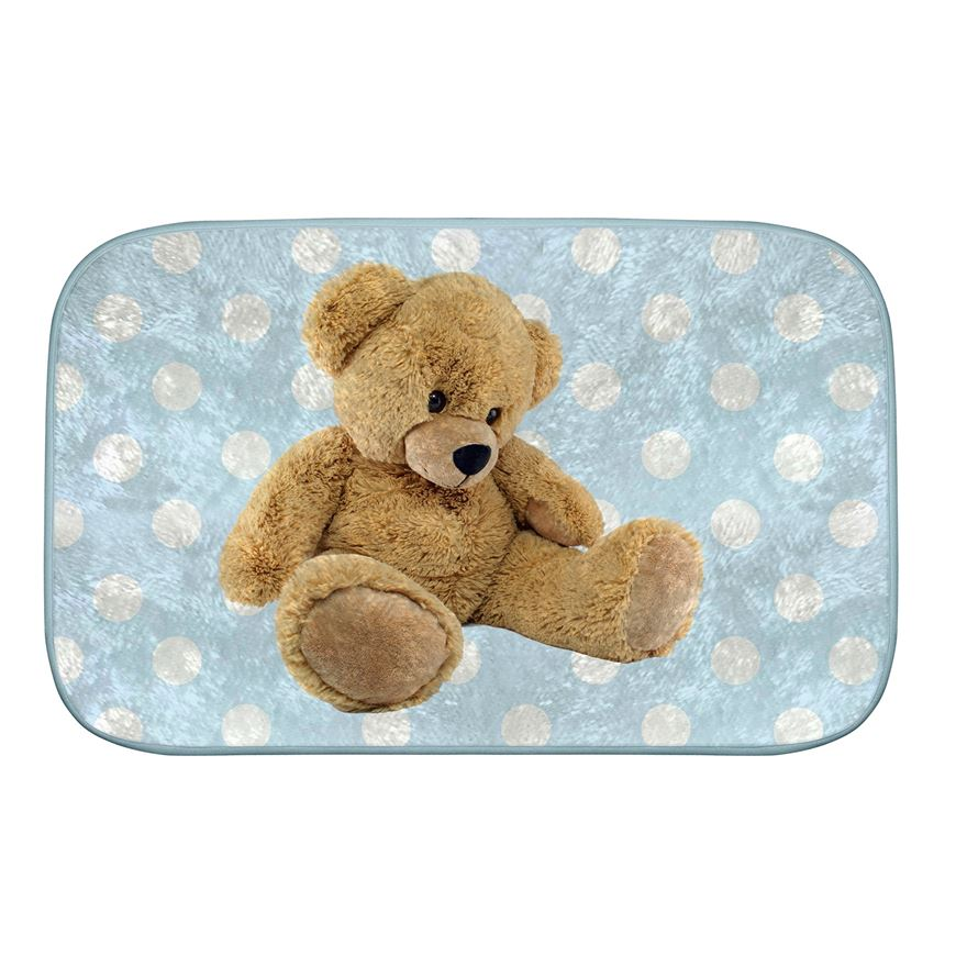 Blue Ultra Soft Bear Mat