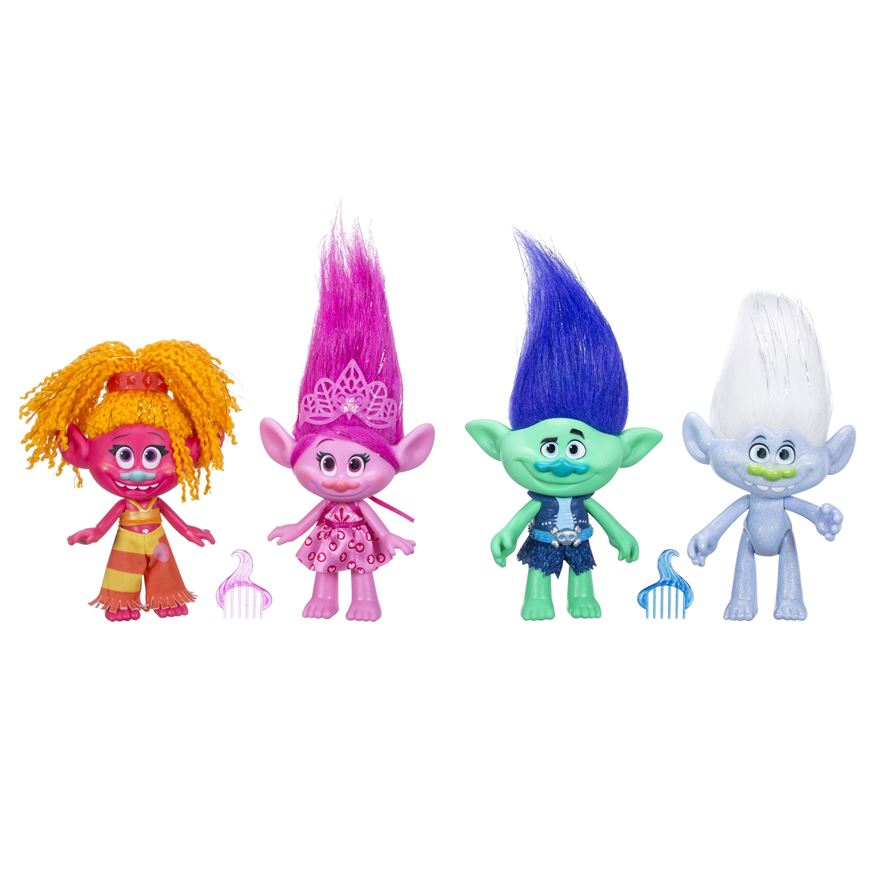 Trolls True Colours Collection 4 Pack image-0