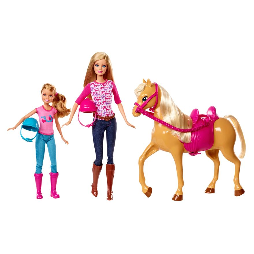Barbie Sister Moments Riding Lesson Dolls and Horse image-0