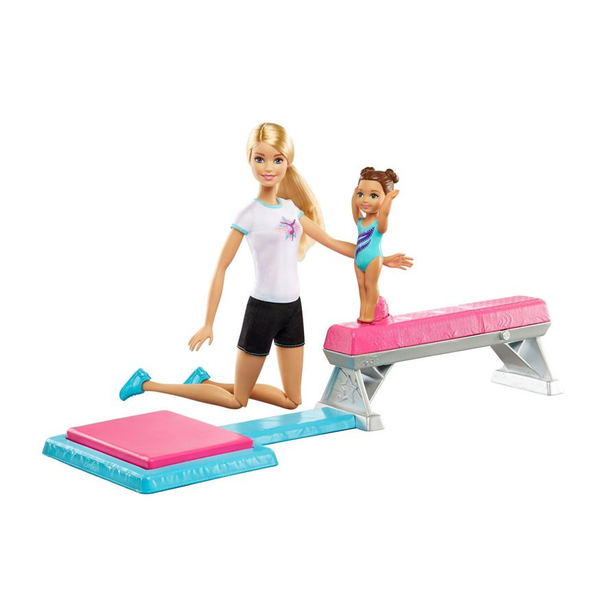 Barbie Flipping Fun Gymnast Set image-0