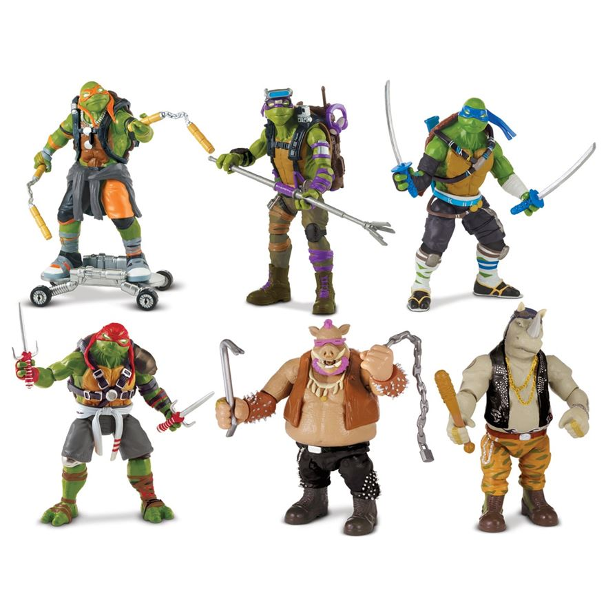 Teenage Mutant Ninja Turtles 2 Action Figures 6 Pack image-0