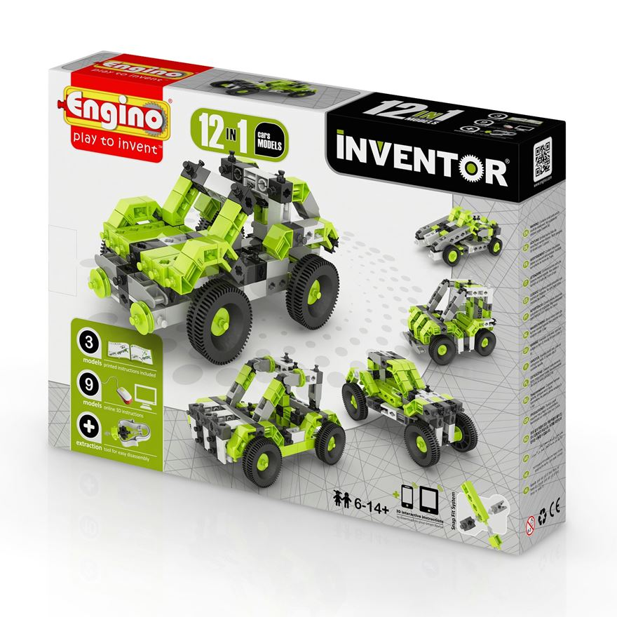 Engino Inventor 12 in 1 Models Cars Set image-0