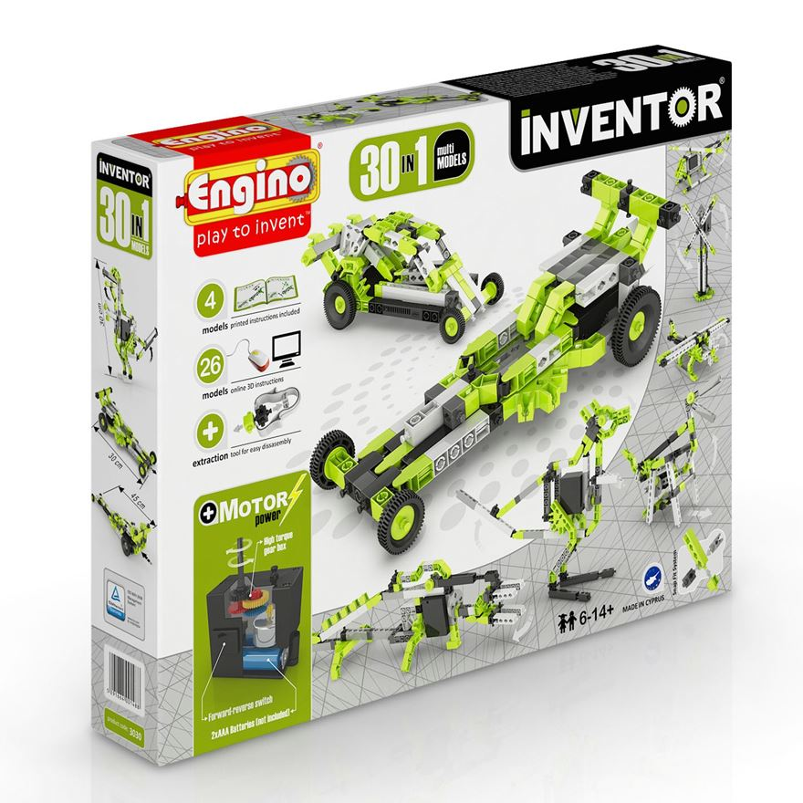 Engino Inventor 30 in 1 Motorised Models Set image-0