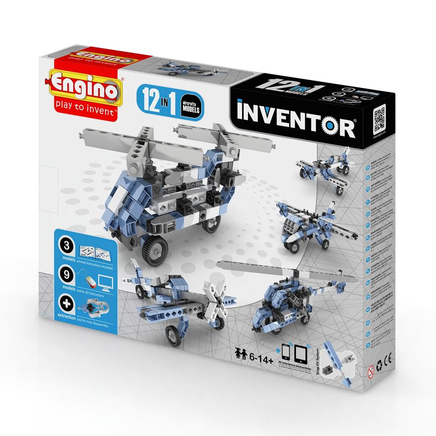 Engino Inventor 12 in 1 Models Aircraft Set image-0