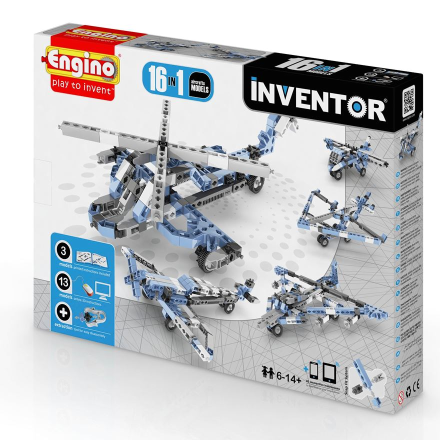 Engino Inventor 16 in 1 Aircraft Models Set image-0