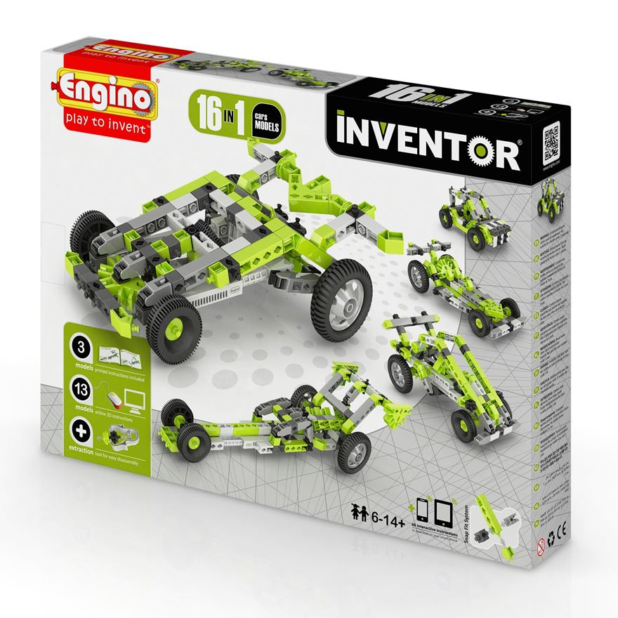 Engino Inventor 16 in 1 Car Models Set image-0