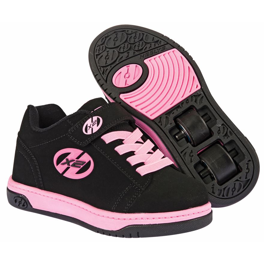 Heelys X2 Dual Up Black/Pink UK 12 image-0