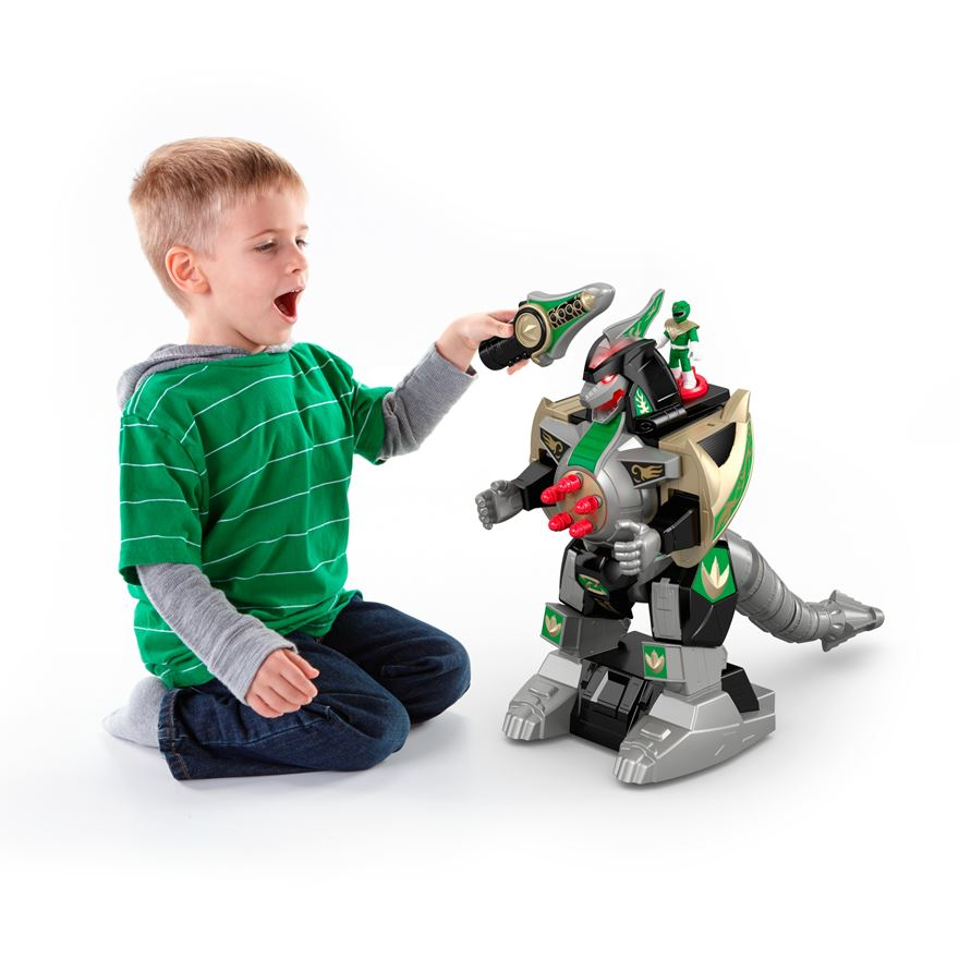 Imaginext Power Rangers Green Ranger & Dragonzord Remote Control image-0