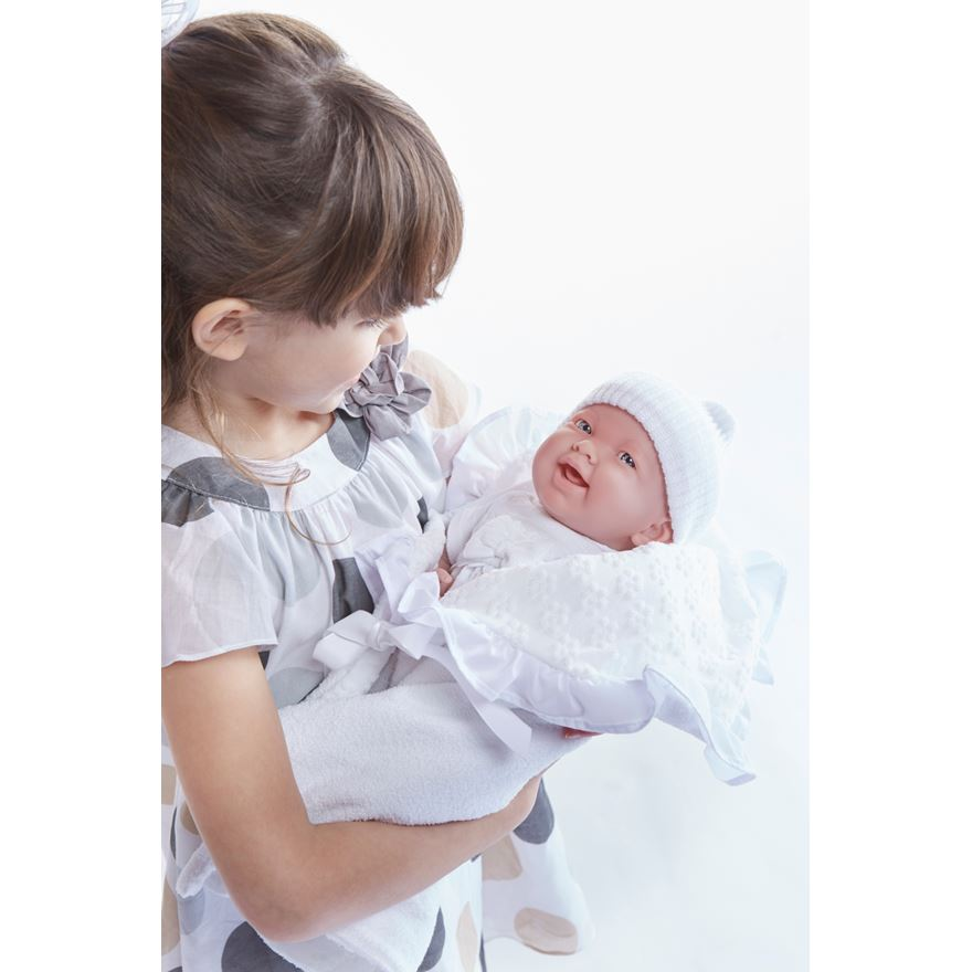 39cm La Newborn in Christening Outfit image-0