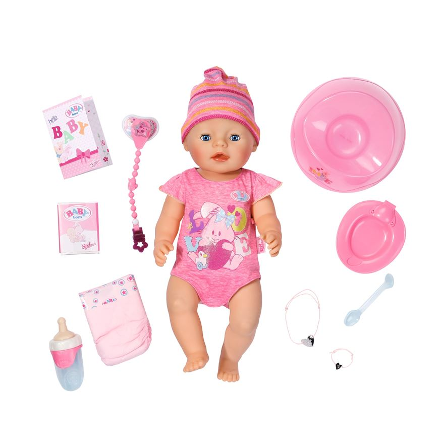 New BABY Born Interactive Girl Doll image-0
