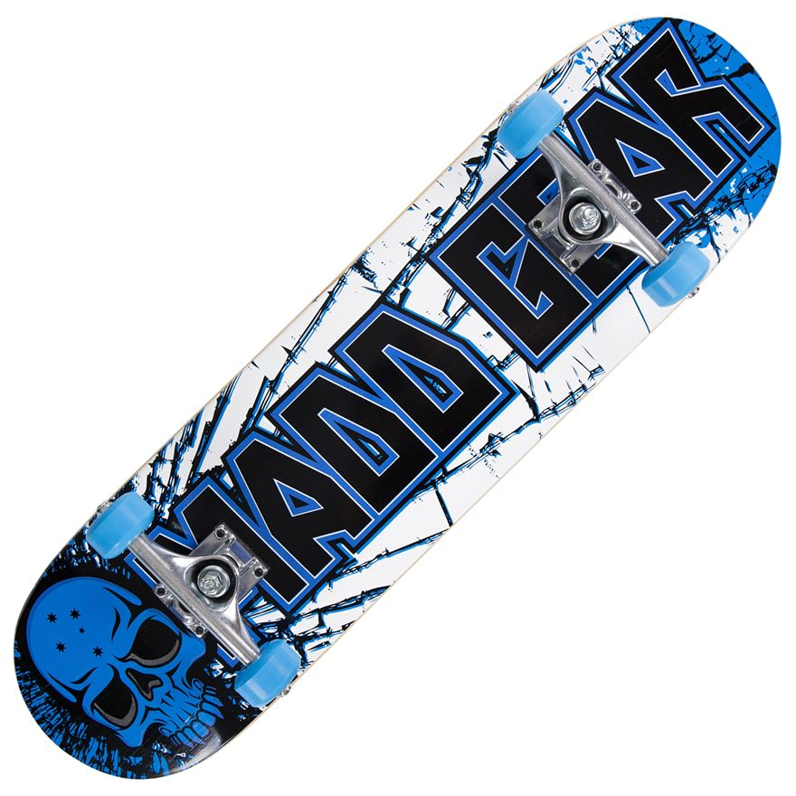 Madd Gear PRO Skateboard - Cracked Blue / Black image-0