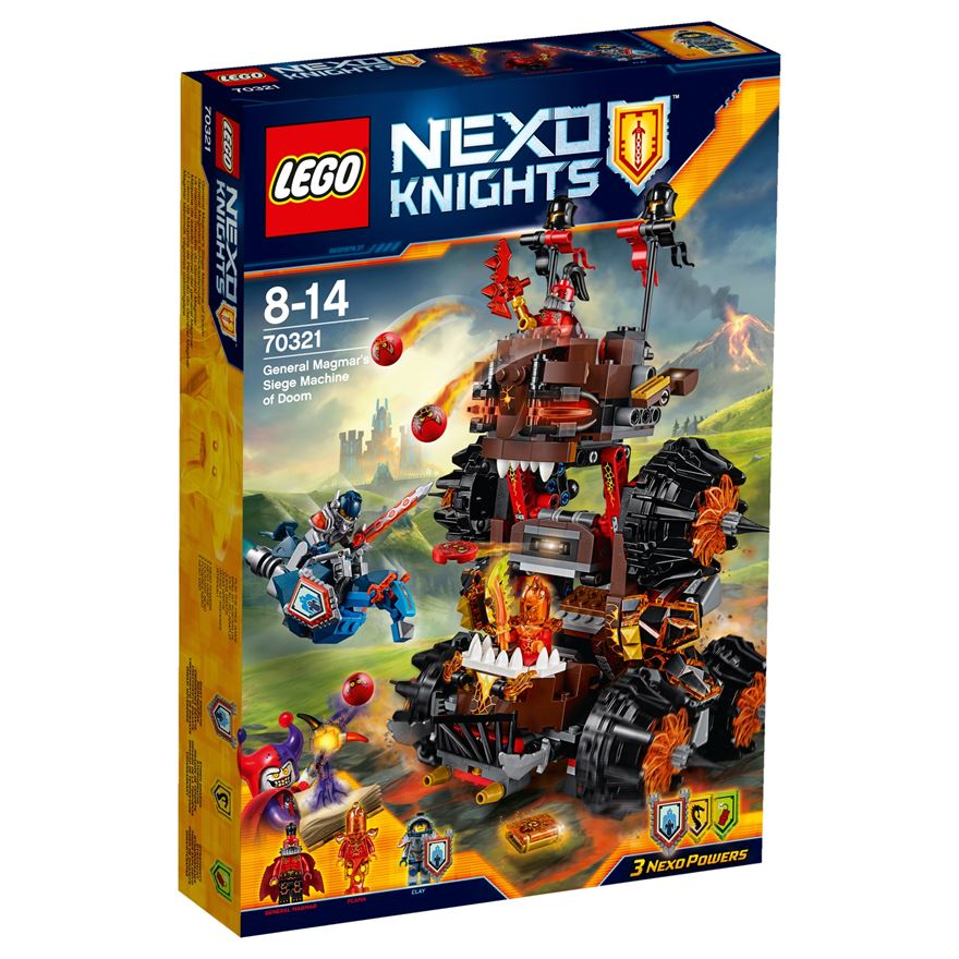 LEGO Nexo Knights General Magmar's Siege Machine of Doom 70321 image-0