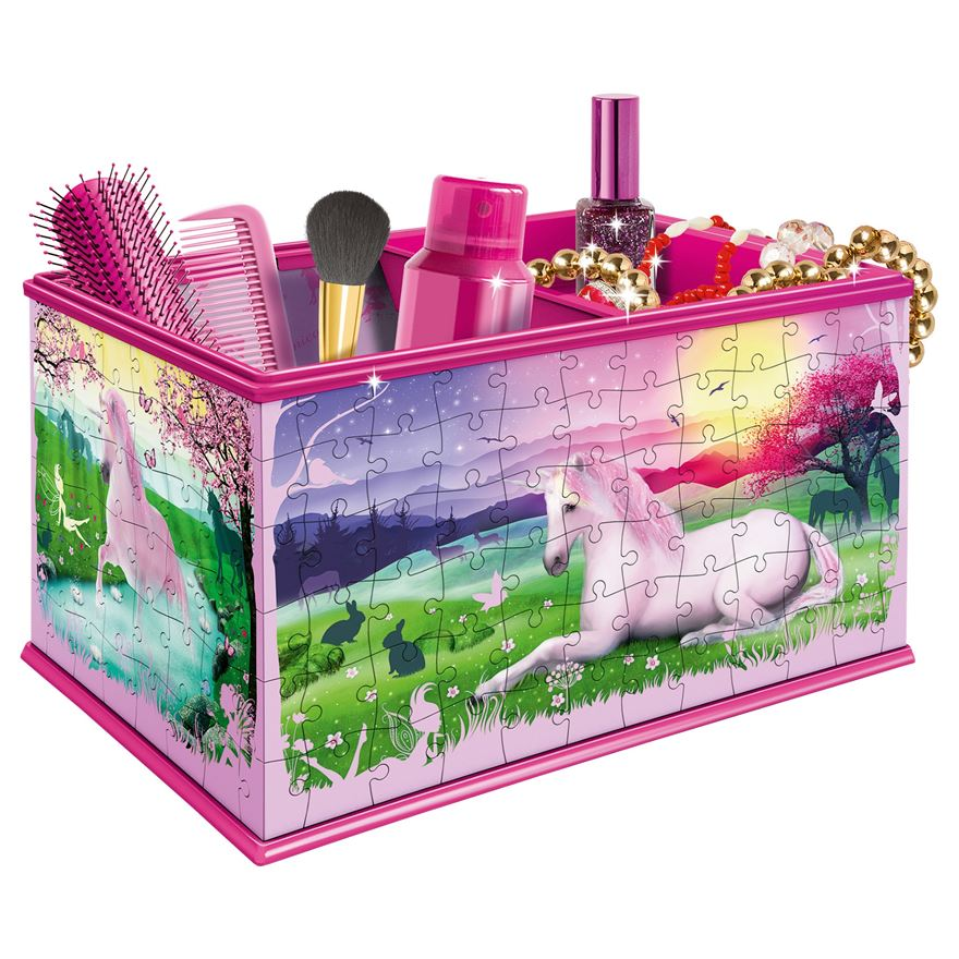 Ravensburger My 3D Boutique - Unicorns Vanity Box, 216pc 3D Jigsaw Puzzle image-0