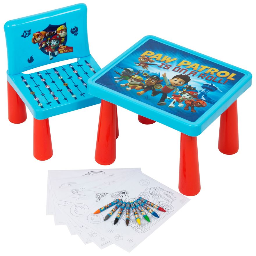 Paw Patrol Sit and Colour Table image-0