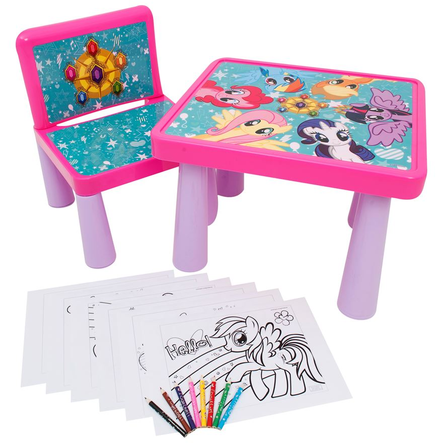 My Little Pony Colouring Table and Chair image-0
