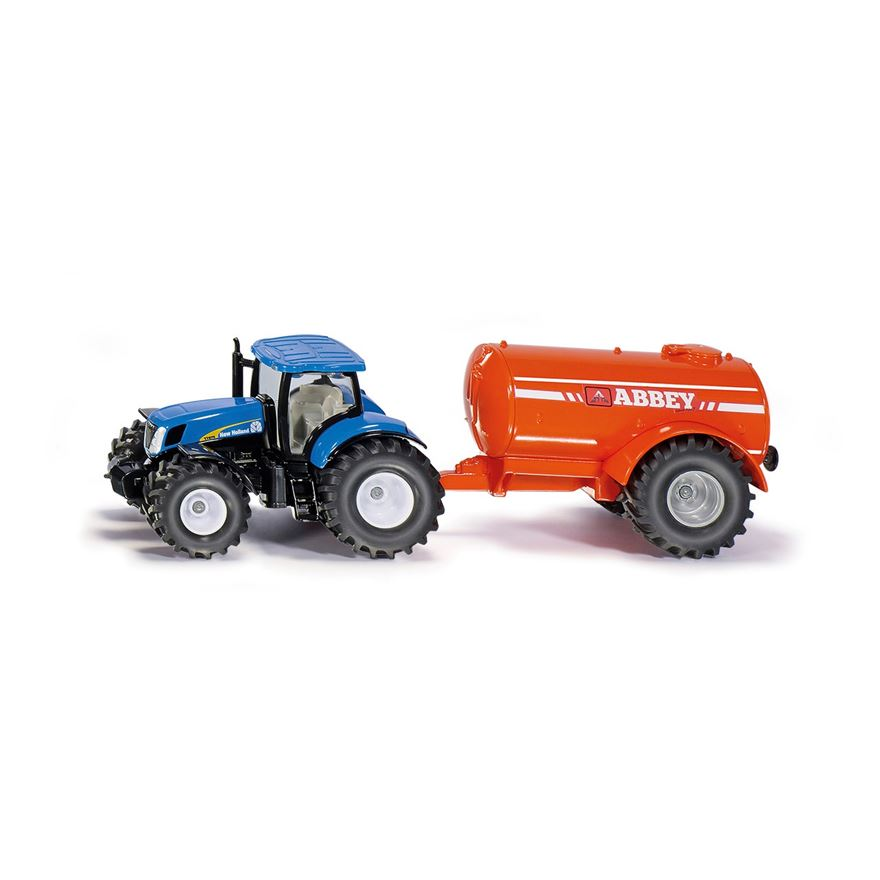 Siku 1:50 New Holland T7070 Tractor and Abbey Single Axle Vacuum Tanker image-0