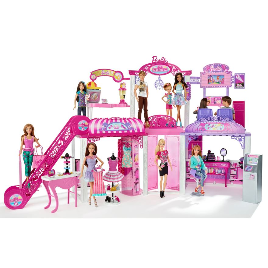 Barbie Malibu Mall with Dolls image-0