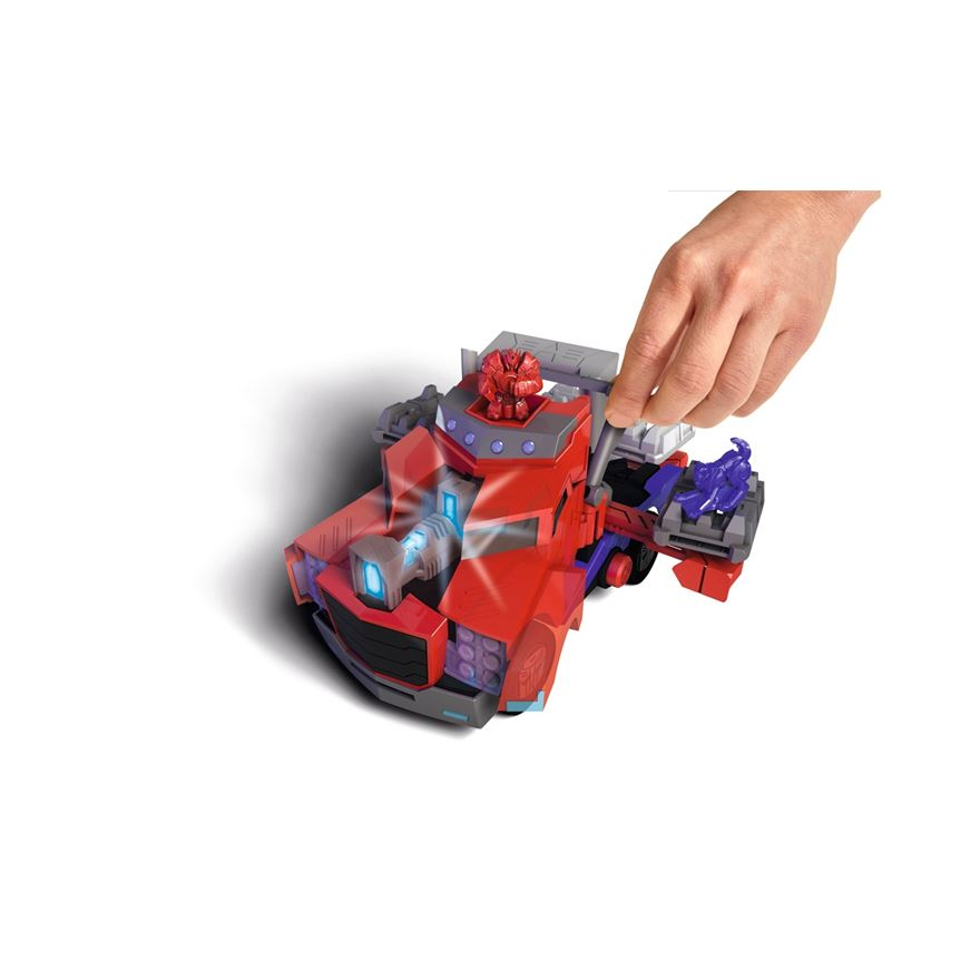Transformers Light & Sound Optimus Prime Battle Truck image-0