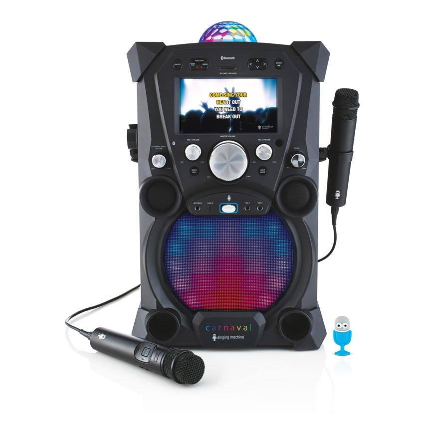 Singing Machine Carnaval Karaoke Machine Black image-0
