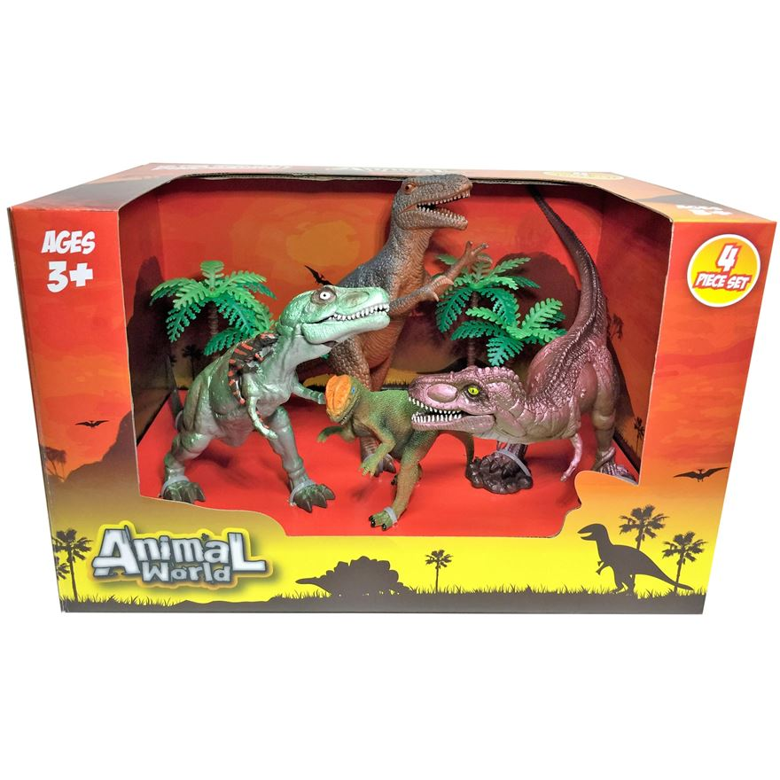 4 Piece Dinosaur set