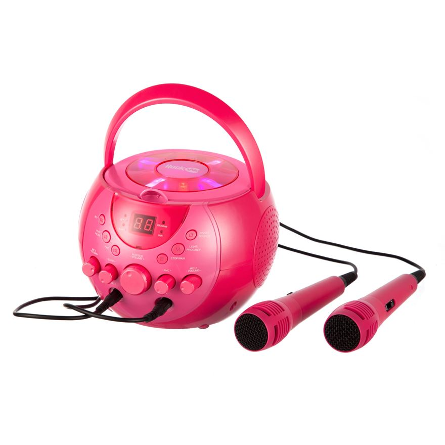 RockJam Karaoke Machine Party Pack Pink image-0