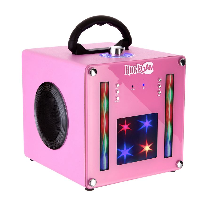 RockJam BT1106 Light Show Bluetooth Speaker - Pink image-0