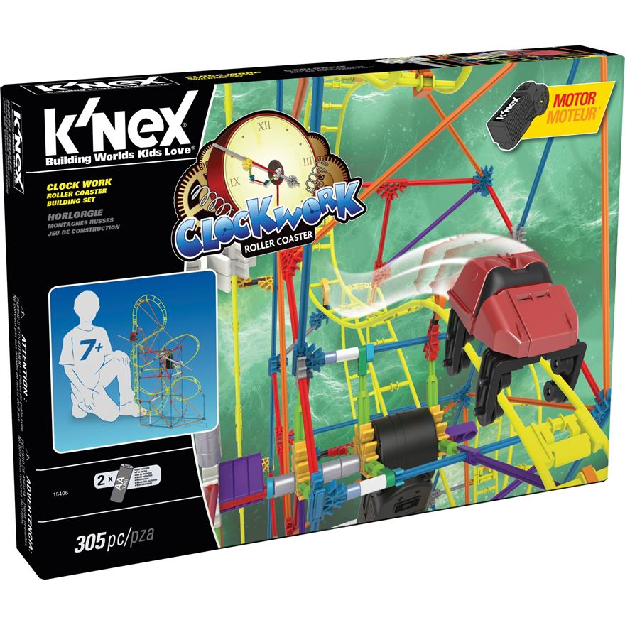 K'nex Clock Work Roller Coaster Building Set image-0
