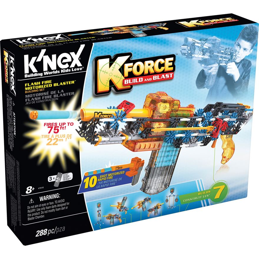 K'NEX K-Force Flash Fire Motorised Blaster image-0