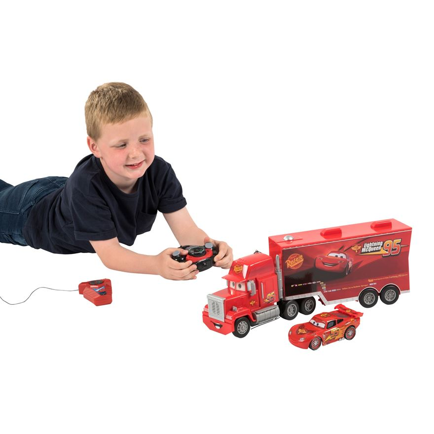 Disney Cars Radio Controlled Mack and Lightning McQueen image-0