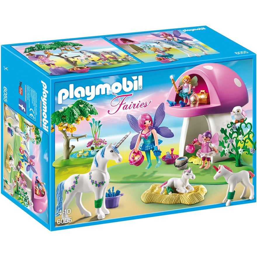 Playmobil 6055 Fairies with Toadstool House image-0