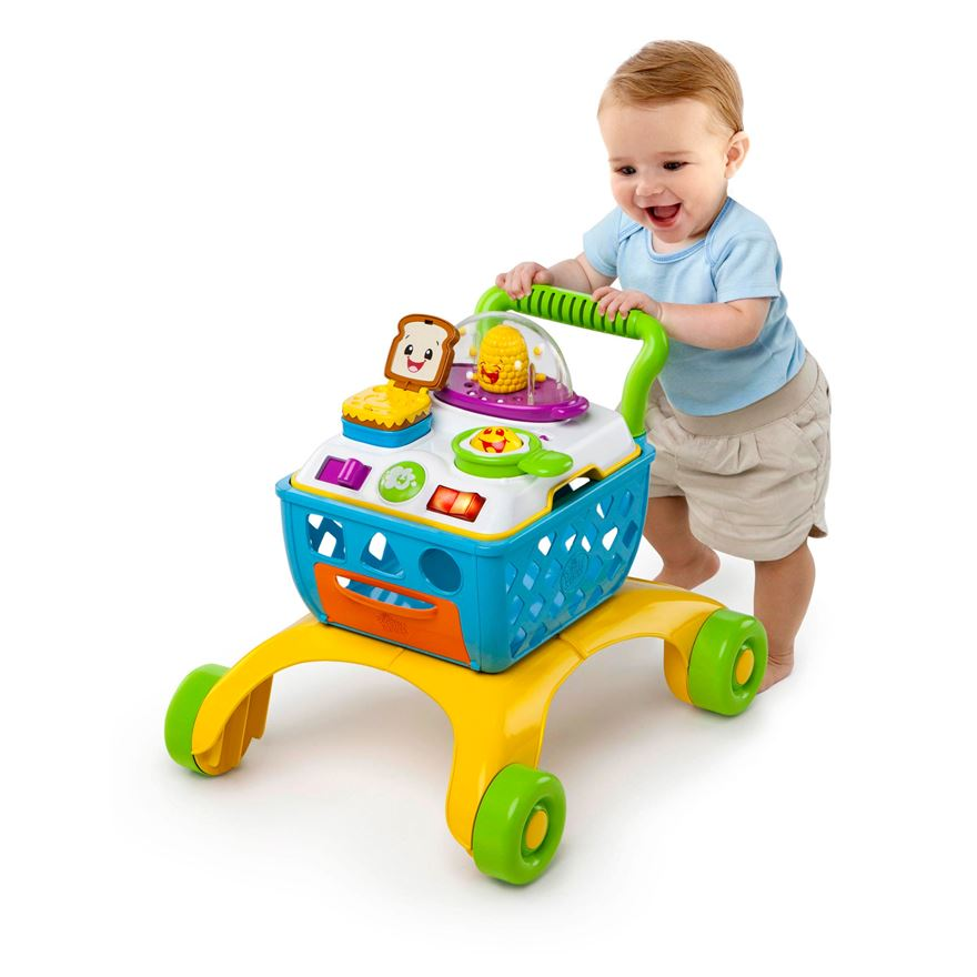 Bright Starts Giggling Gourmet 4-in-1 Shop 'n Cook Walker image-0