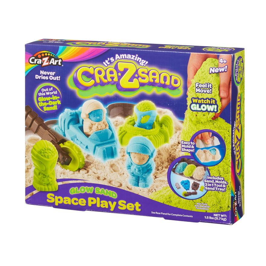 Cra-Z Sand Glow in the Dark Space Playset image-0