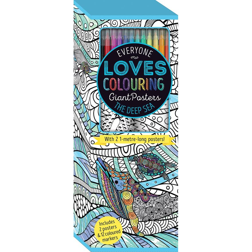 Everyone Loves Colouring Poster: Under the Sea