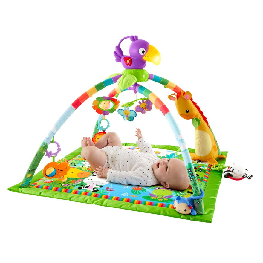 Fisher-Price Rainforest Music & Lights Deluxe Gym image-0