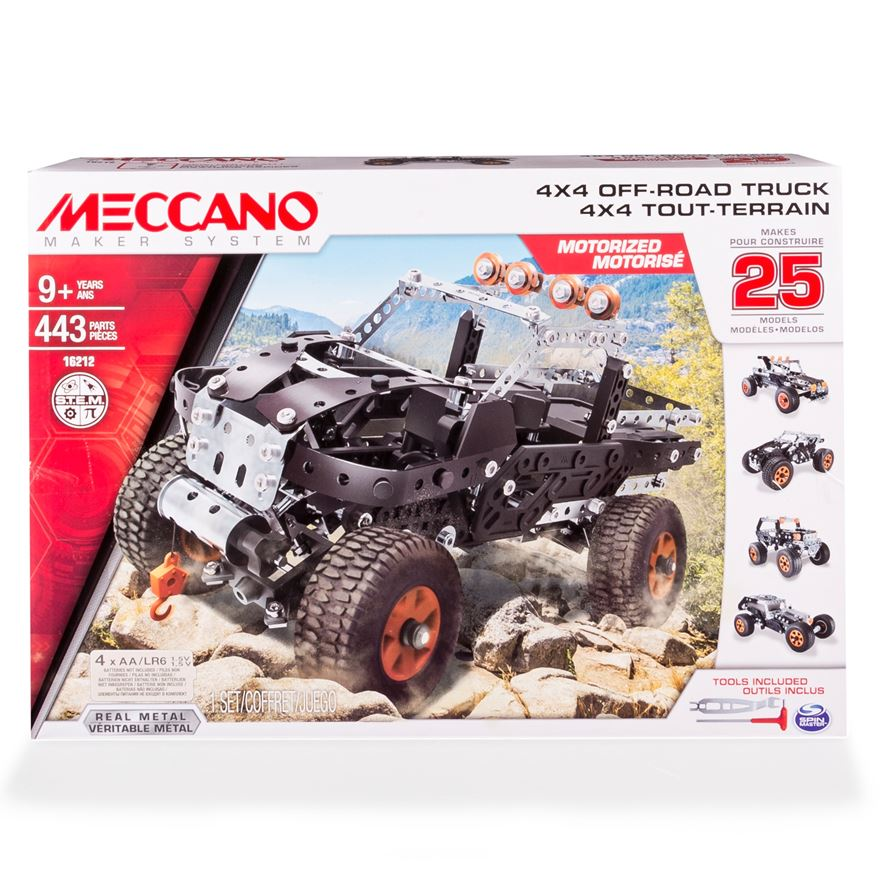 Meccano 25 Model Set 4x4 Off Road Truck image-0