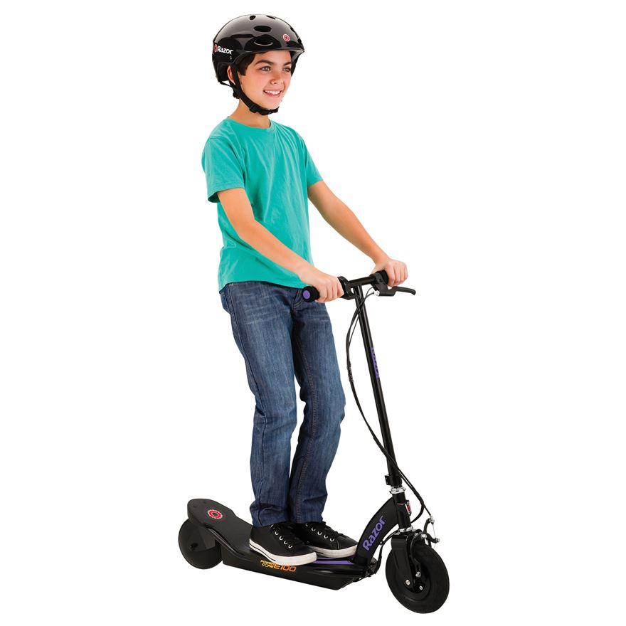 Razor Power Core E100 Electric Scooter–Purple image-0