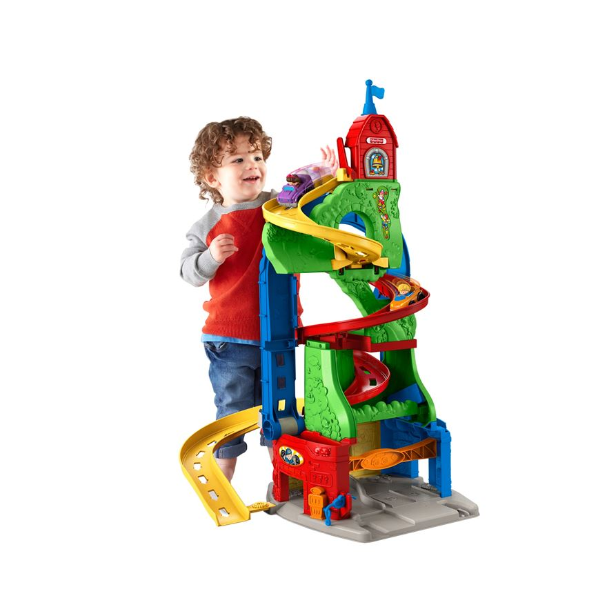 Little People Sit 'n Stand Skyway Play Set image-0