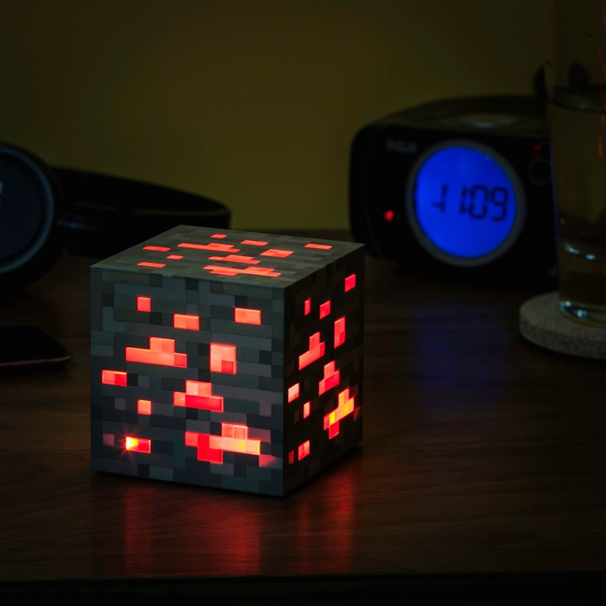 ThinkGeek Minecraft Light-Up Redstone Ore image-0