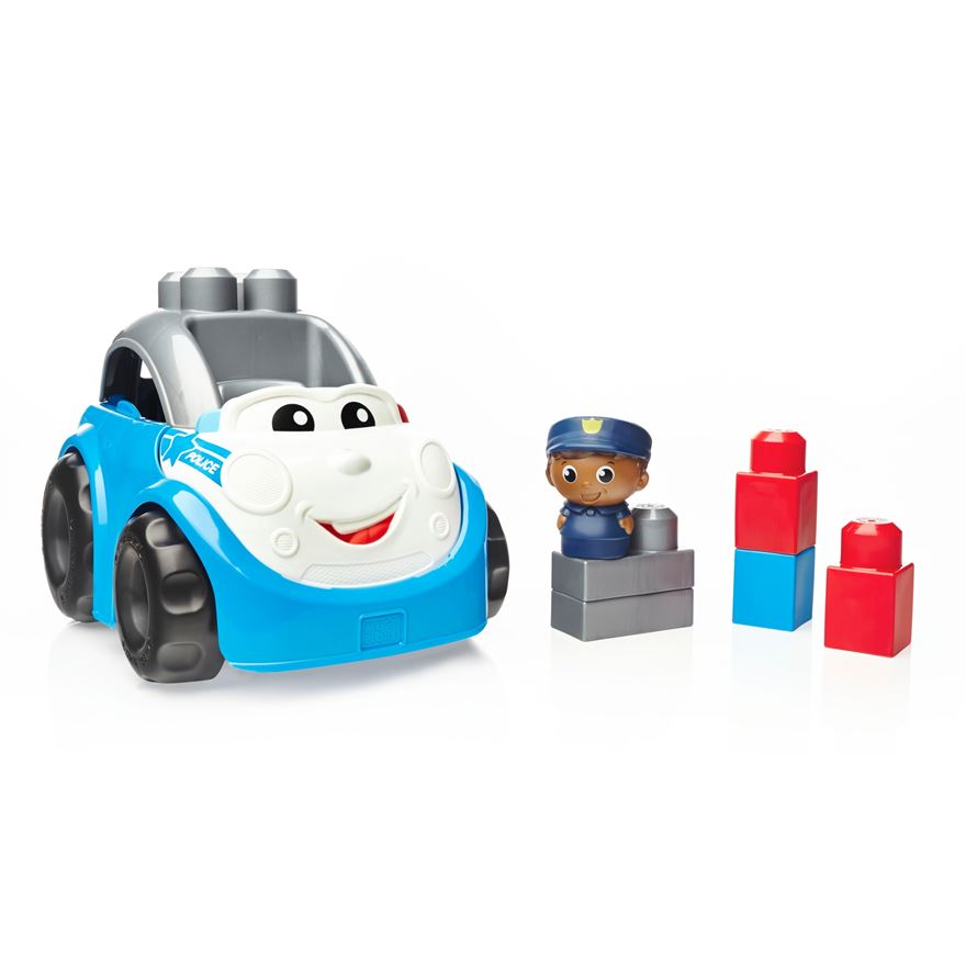 Mega Bloks First Builders Lil Vehicles Peter Police Car image-0