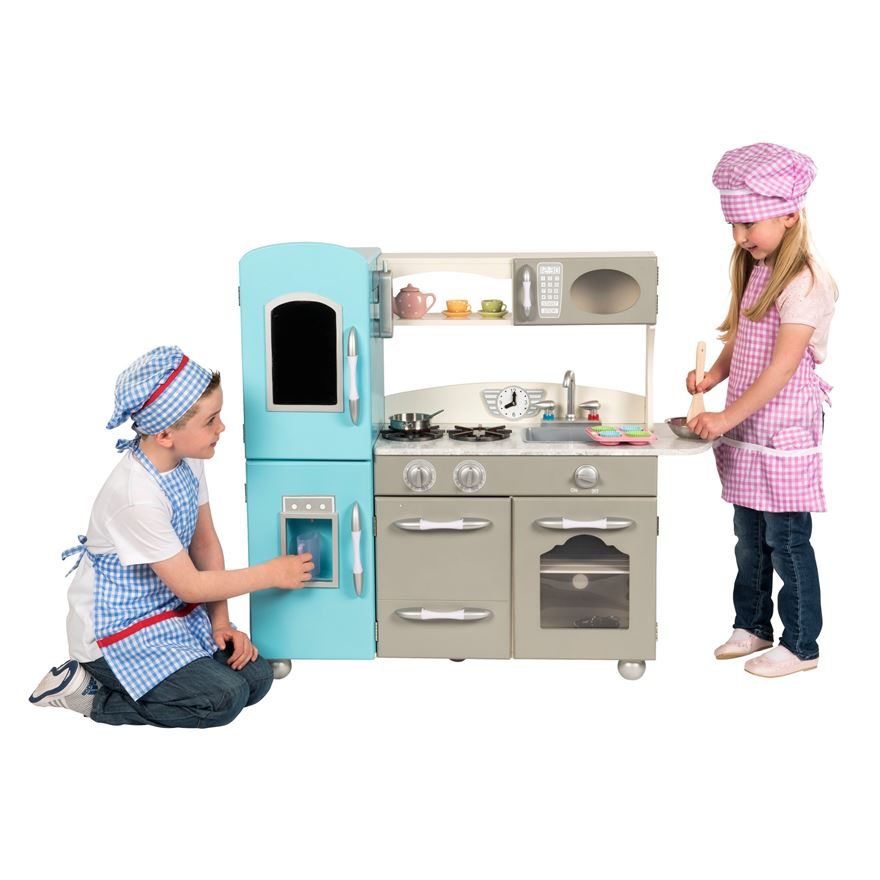 Modern Wooden Play Kitchen image-0