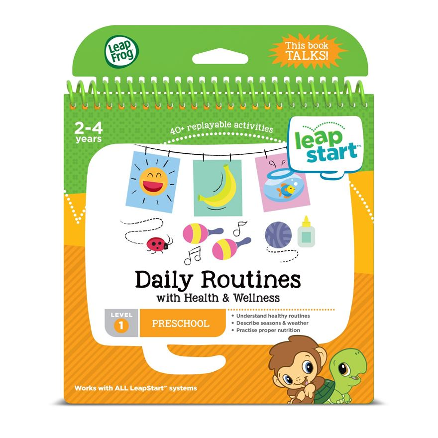 LeapFrog LeapStart Preschool Activity Book: Daily Routines and Health & Wellness image-0