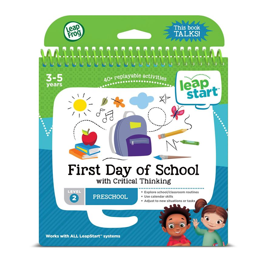 LeapFrog LeapStart Preschool Activity Book: First Day of School and Critical Thinking image-0