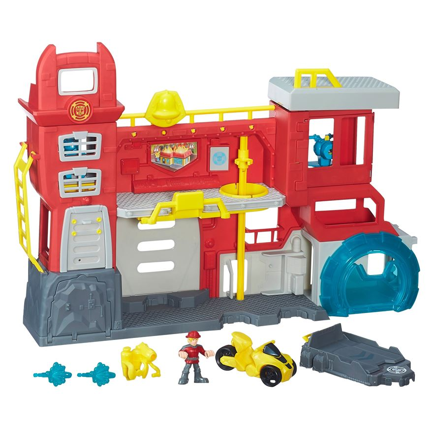 Playskool Heroes Transformers Rescue Bots Griffin Rock Firehouse Headquarters image-0