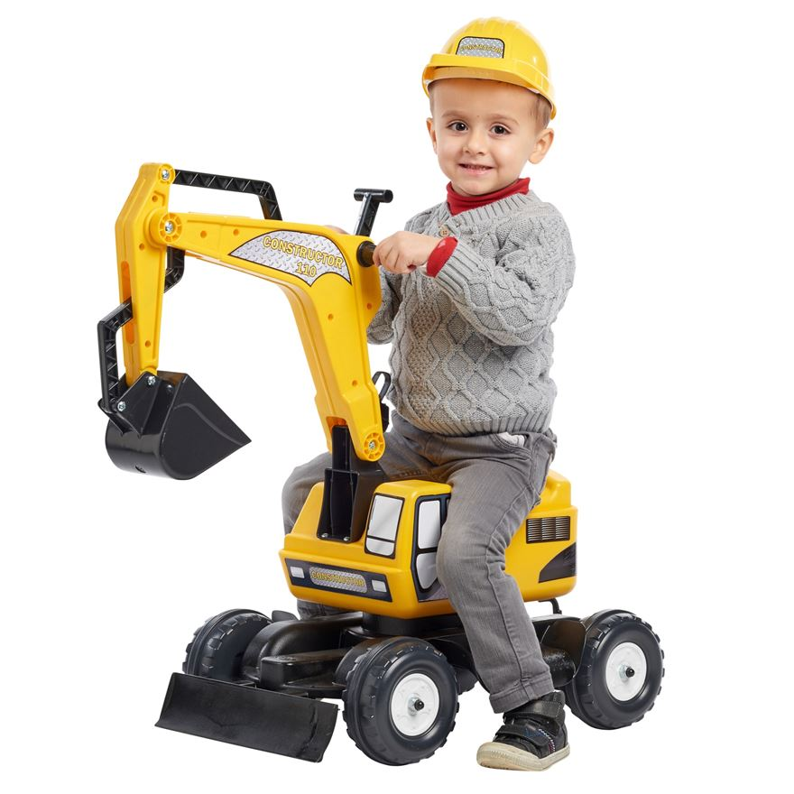 Falk Constructor Excavator and Helmet image-0