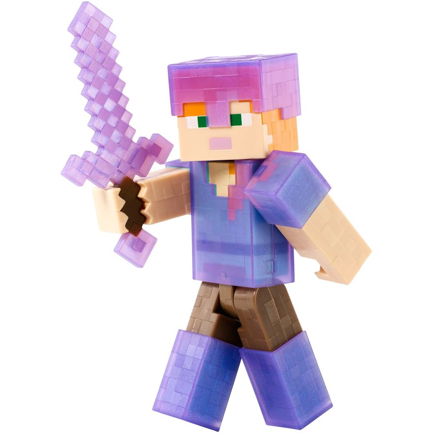 Minecraft 13cm Alex With Gold Armor image-0