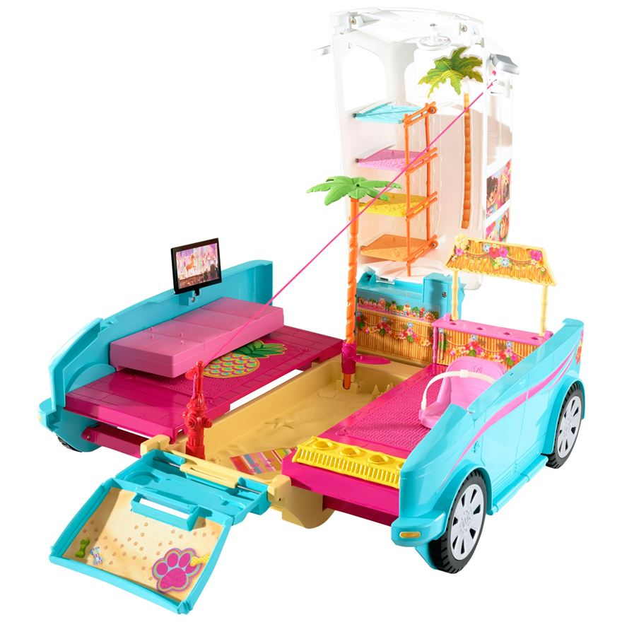 ip Barbie Ultimate Puppy Mobile Playset
