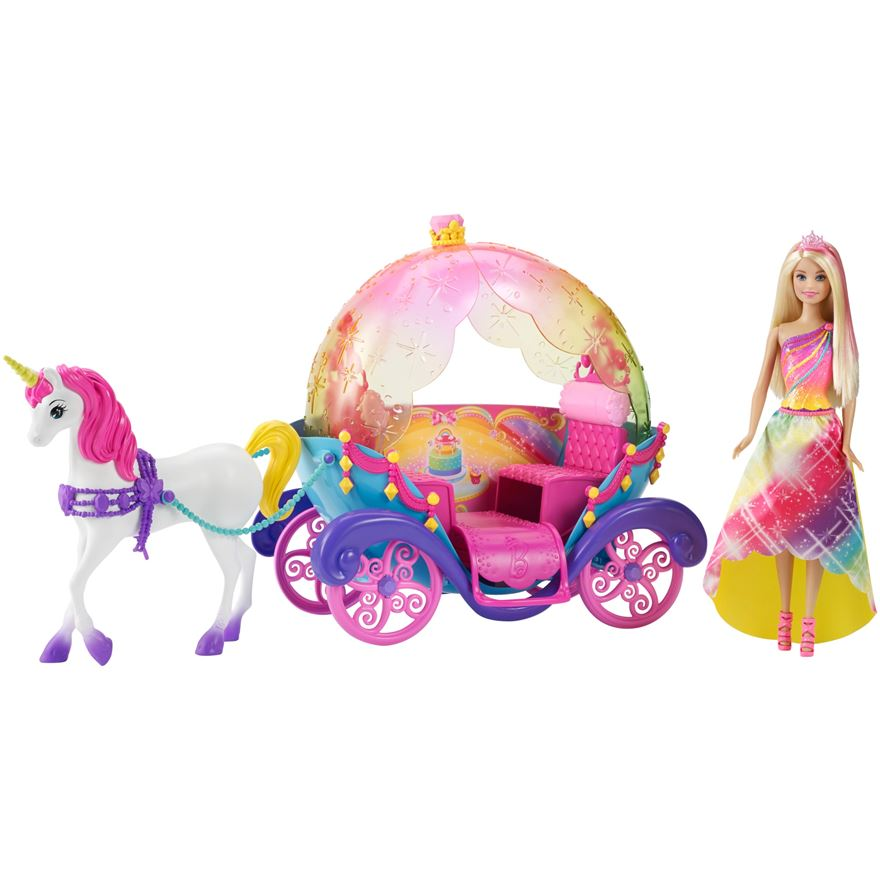 Barbie Dreamtopia Princess, Horse and Carriage image-0